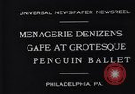 Image of mascots of penguins Philadelphia Pennsylvania USA, 1931, second 2 stock footage video 65675035999