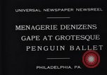 Image of mascots of penguins Philadelphia Pennsylvania USA, 1931, second 3 stock footage video 65675035999