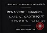 Image of mascots of penguins Philadelphia Pennsylvania USA, 1931, second 4 stock footage video 65675035999