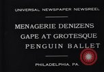 Image of mascots of penguins Philadelphia Pennsylvania USA, 1931, second 5 stock footage video 65675035999