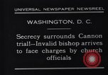 Image of James Cannon Trial Washington DC USA, 1931, second 3 stock footage video 65675036001