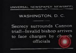Image of James Cannon Trial Washington DC USA, 1931, second 7 stock footage video 65675036001