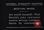 Image of Paul Smith paintings Boston Massachusetts USA, 1931, second 3 stock footage video 65675036002