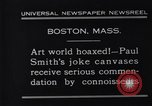 Image of Paul Smith paintings Boston Massachusetts USA, 1931, second 4 stock footage video 65675036002