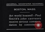 Image of Paul Smith paintings Boston Massachusetts USA, 1931, second 5 stock footage video 65675036002