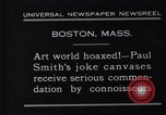 Image of Paul Smith paintings Boston Massachusetts USA, 1931, second 6 stock footage video 65675036002
