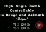 Image of High angle bomb controllable in range and azimuth United States USA, 1940, second 2 stock footage video 65675036022