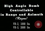 Image of High angle bomb controllable in range and azimuth United States USA, 1940, second 3 stock footage video 65675036022