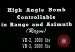 Image of High angle bomb controllable in range and azimuth United States USA, 1940, second 4 stock footage video 65675036022