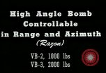 Image of High angle bomb controllable in range and azimuth United States USA, 1940, second 6 stock footage video 65675036022