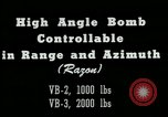 Image of High angle bomb controllable in range and azimuth United States USA, 1940, second 7 stock footage video 65675036022