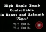 Image of High angle bomb controllable in range and azimuth United States USA, 1940, second 10 stock footage video 65675036022
