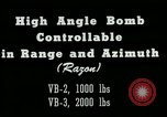 Image of High angle bomb controllable in range and azimuth United States USA, 1940, second 12 stock footage video 65675036022