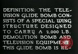 Image of Remote Controlled TV Glide Bomb United States, 1944, second 12 stock footage video 65675036031