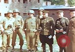 Image of American and Russian military officials meet Torgau Germany, 1945, second 1 stock footage video 65675036088