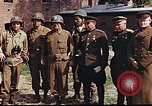 Image of American and Russian military officials meet Torgau Germany, 1945, second 3 stock footage video 65675036088