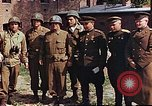 Image of American and Russian military officials meet Torgau Germany, 1945, second 4 stock footage video 65675036088