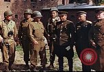 Image of American and Russian military officials meet Torgau Germany, 1945, second 6 stock footage video 65675036088
