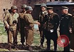 Image of American and Russian military officials meet Torgau Germany, 1945, second 7 stock footage video 65675036088