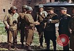 Image of American and Russian military officials meet Torgau Germany, 1945, second 8 stock footage video 65675036088