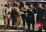 Image of American and Russian military officials meet Torgau Germany, 1945, second 11 stock footage video 65675036088