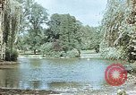 Image of pond in public park Cologne Germany, 1945, second 1 stock footage video 65675036099