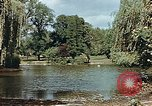 Image of pond in public park Cologne Germany, 1945, second 2 stock footage video 65675036099