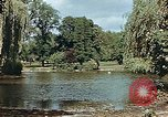 Image of pond in public park Cologne Germany, 1945, second 4 stock footage video 65675036099