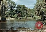 Image of pond in public park Cologne Germany, 1945, second 5 stock footage video 65675036099