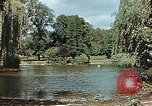 Image of pond in public park Cologne Germany, 1945, second 6 stock footage video 65675036099