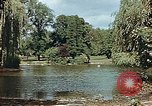 Image of pond in public park Cologne Germany, 1945, second 7 stock footage video 65675036099