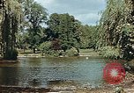 Image of pond in public park Cologne Germany, 1945, second 8 stock footage video 65675036099