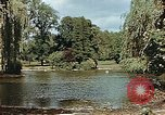 Image of pond in public park Cologne Germany, 1945, second 9 stock footage video 65675036099