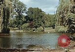 Image of pond in public park Cologne Germany, 1945, second 10 stock footage video 65675036099
