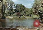 Image of pond in public park Cologne Germany, 1945, second 11 stock footage video 65675036099