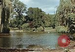 Image of pond in public park Cologne Germany, 1945, second 12 stock footage video 65675036099