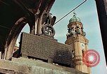 Image of damaged Church of Two Towers Munich Germany, 1945, second 4 stock footage video 65675036113