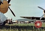 Image of Personnel of 362nd Fighter walking past camera  Illesheim Germany, 1945, second 4 stock footage video 65675036115