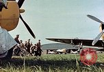 Image of Personnel of 362nd Fighter walking past camera  Illesheim Germany, 1945, second 5 stock footage video 65675036115