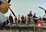 Image of Personnel of 362nd Fighter walking past camera  Illesheim Germany, 1945, second 8 stock footage video 65675036115