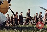 Image of Personnel of 362nd Fighter walking past camera  Illesheim Germany, 1945, second 12 stock footage video 65675036115
