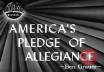 Image of Pledge of Allegiance by Americans New York City USA, 1946, second 1 stock footage video 65675036128