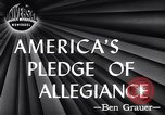 Image of Pledge of Allegiance by Americans New York City USA, 1946, second 4 stock footage video 65675036128
