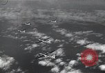 Image of B-29 bombers flying above ocean Nagoya Japan, 1945, second 12 stock footage video 65675036243