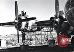 Image of damaged B-29 bomber Saipan Northern Mariana Islands, 1945, second 1 stock footage video 65675036245