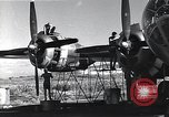 Image of damaged B-29 bomber Saipan Northern Mariana Islands, 1945, second 2 stock footage video 65675036245