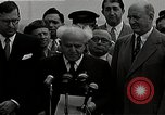 Image of David Ben-Gurion statement on arrival in USA Arlington Virginia USA, 1951, second 6 stock footage video 65675036288