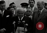 Image of David Ben-Gurion statement on arrival in USA Arlington Virginia USA, 1951, second 7 stock footage video 65675036288