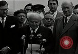 Image of David Ben-Gurion statement on arrival in USA Arlington Virginia USA, 1951, second 12 stock footage video 65675036288
