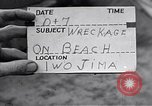 Image of Wrecked amphibious craft Iwo Jima, 1945, second 1 stock footage video 65675036298